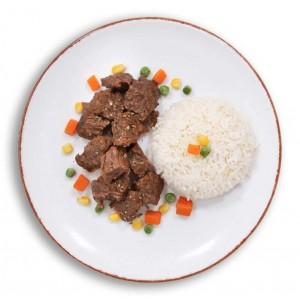dana et kavurma ve pirinç pilavı dondurulmuş paket