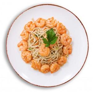 karides tava ve sebzeli noodle makarna paket yemek
