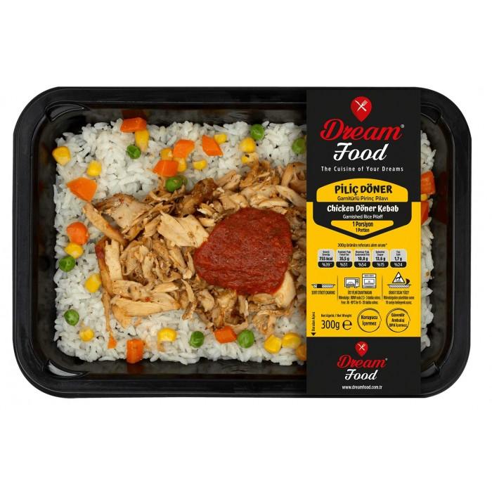 tavuk döner ve pirinç pilavı paket yemek