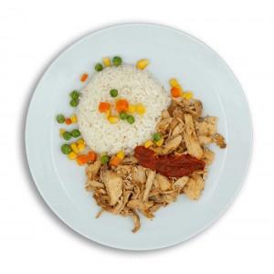 dondurulmuş tavuk döner ve pirinç pilavı paket yemek